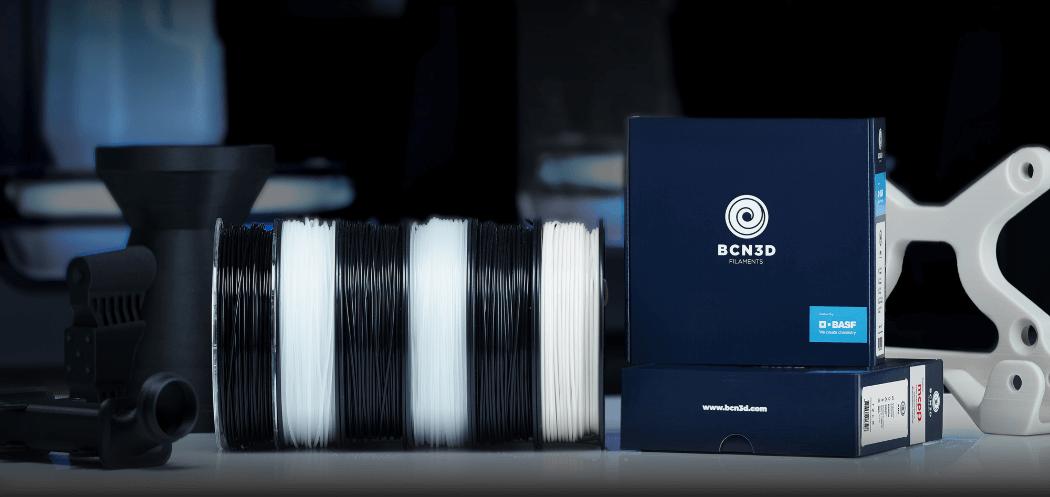 BCN3D filamenty BASF i Mitsubishi Chemical
