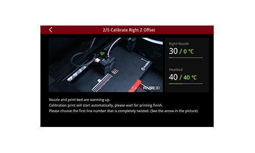 Drukarka 3D Raise3D E2 System kalibracji