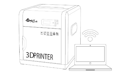 DA VINCI 1.0 PRO 3D Printer Wireless printing