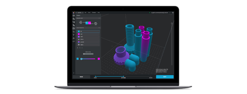 ZMorph VX 3D printer oprogramowanie Voxelizer