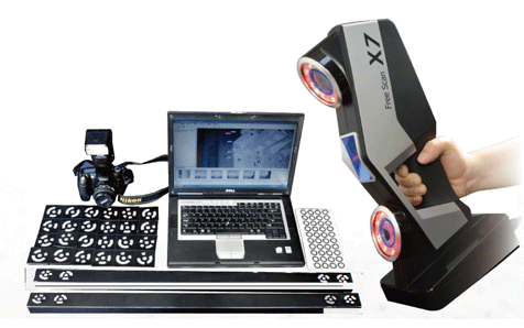3D SHINING3D FreeScan X7 scanner with photogrammetry system DigiMetric