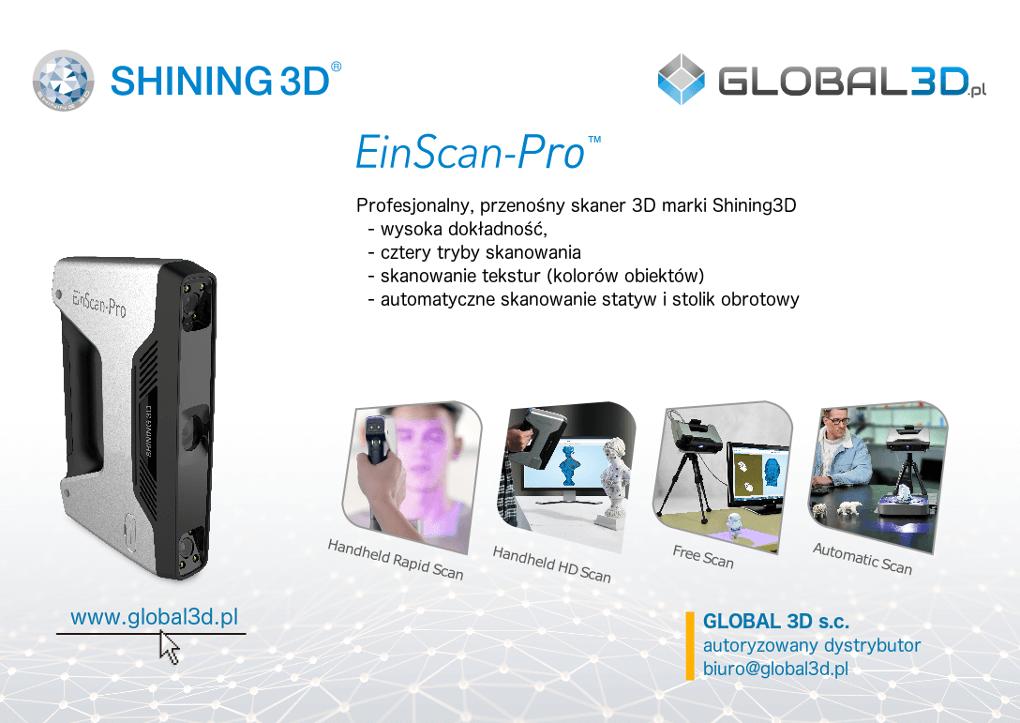 Skaner 3D EinScan-Pro
