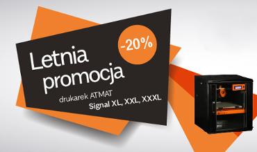 Letnia promocja -20% na drukarki 3D ATMAT Signal XL, XXL, XXXL